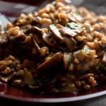 Farro mushroom risotto