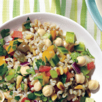 Farro and pine nut tabbouleh salad